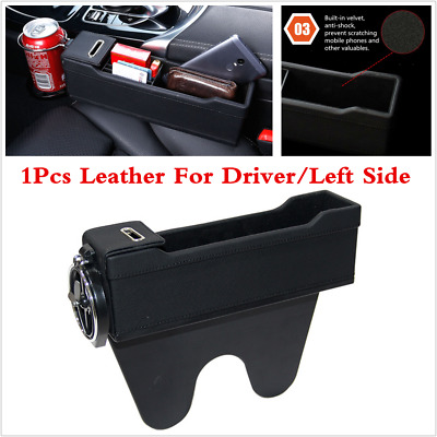 $ CDN38.13 • Buy Storage Box With Cup Holder Fit For Car Driver Seat Gap Filler Home Travel