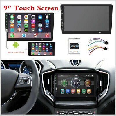AU127.37 • Buy Car MP5 Player Mirror Link 9 In Touch Screen Stereo Radio FM Fit For Android/IOS