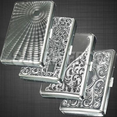 Cigarette Case Metal Super King Size Box Holder Cases Tobacco Long 16 Cigarettes • 3.79£