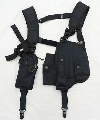 Protec Black Covert Harness Covert Vest With Radio CS Baton Cuffs Pouch CH03A • 27.95£