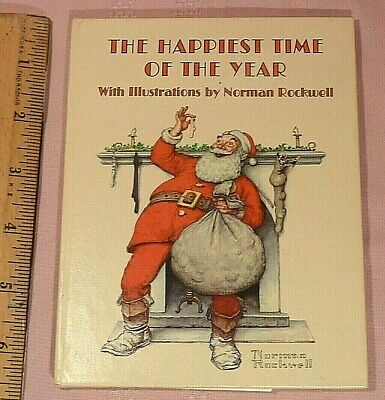 $ CDN4 • Buy Illustrated By Norman Rockwell -  The Happiest Time Of The Year  Christmas Poems