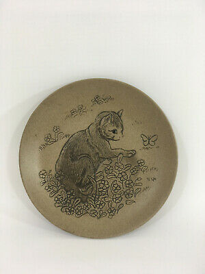 Small Vintage Poole Pottery England Cat Design Dish By Barbara Linley Adams • 6.99£