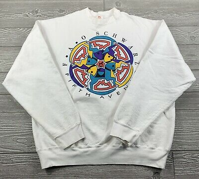 $24.99 • Buy Vintage F.A.O SCHWARZ FIFTH AVENUE X LARGE CREW NECK SWEATER Home Alone RARE!
