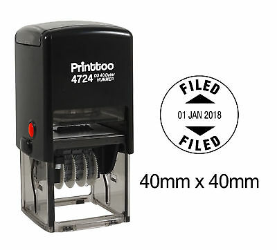 AU22.99 • Buy Printtoo Office  Round Self Inking Dater Stamp With Filed Text Date-PR4724-123