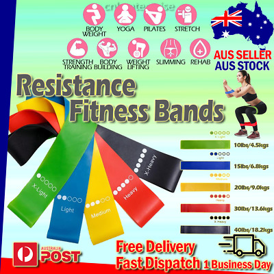 AU13.45 • Buy Resistance Bands Fitness Exercise Loop Yoga Band Mini Training Crossfit Set 5PCS