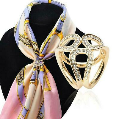 £1.09 • Buy Women Scarf Buckle Ring Clip Holder Crystal Flower Scarves Silk Jewelry Pin M1R4