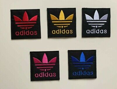 ADIDAS TREFOIL LOGO Sports - 5 COLOURS- Embroidered Iron On Sew On PATCH • 1.99£