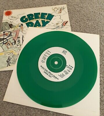 Green Day Basketcase 7  Green Vinyl Poster 1995 Punk Nofx Offspring Bad Religion • 25£