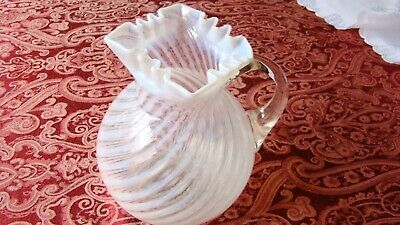 $44.99 • Buy Antique Northwood Glass Co Square Ruffle Neck Hand Blown Pitcher 1891