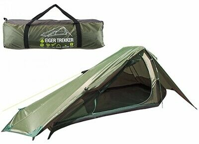 Summit Tent Eiger Trekker 1 Man Person Fishing Camping Quick Easy Pitch 2000Hh • 36£