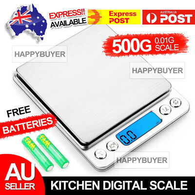AU11.85 • Buy 0.01-500g Jewellery Kitchen Food Scale Digital LCD Electronic Balance Scales