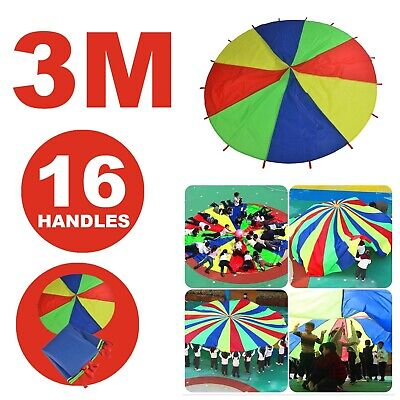£18.99 • Buy 3m Rainbow Parachute Outdoor Game Kids Play Exercise Group Activity Sports Toy