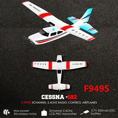 WLtoys F949 CESSNA-182 2.4G 3CH RC RTF Airplane Aircraft Fixed Wing Plane.NEW • 39.64£