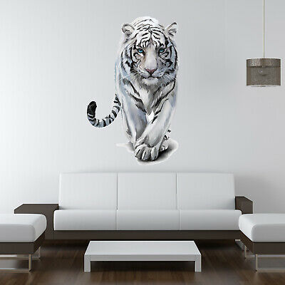 Big Wild White Tiger Wall Art Sticker Vinyl Transfer Graphic Decal Home Decor UK • 7.99£