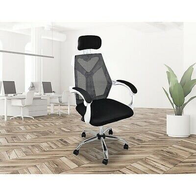 AU151.95 • Buy Office Chair Gaming Computer Chairs Mesh Back Foam Seat - White
