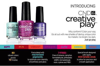 AU6.49 • Buy CND (13.6ml) New CREATIVE PLAY Nail Lacquer NEW & FREEPOST Choose 3 For $14.47