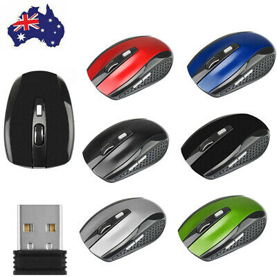 AU10.99 • Buy 2.4GHz For PC Laptop Computer Black Wireless Cordless Mouse Mice Optical Scroll