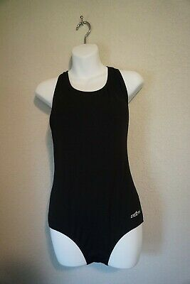 $10 • Buy PRE-OWNED Dolfin Ocean 34 One Piece Racer Back Competition Black Swimsuit  SZ 8