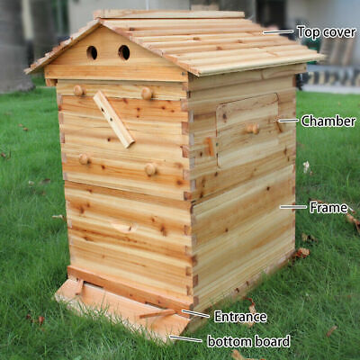 £119.99 • Buy TOP Beehive House 2-Layer Super Brood Beekeeping Bee Hive Box For 7PCS Frames