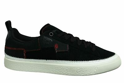 Puma Clyde Reform Black Leather Low Lace Up Casual Mens Trainers 372337 01 • 34.99£