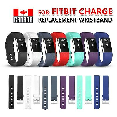 $ CDN8.99 • Buy For Fitbit Charge 2 Band Replacement Sports Silicone Watch Strap Wristband S-L