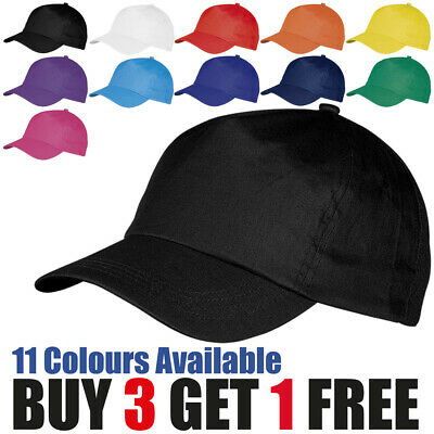 Baseball Cap Mens Womens Adjustable Plain Adults Summer Classic Sports Sun Hat • 1.99£