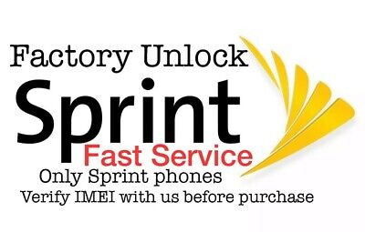 $52.95 • Buy  Sprint Factory Unlock Service For IPhone 11 11 PRO MAX XS MAX XS XR X 8 7 6
