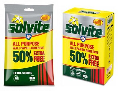 £2.86 • Buy Solvite All Purpose Wallpaper Paste Extra Strong Adhesive Easy Mix Wallpaper Glu