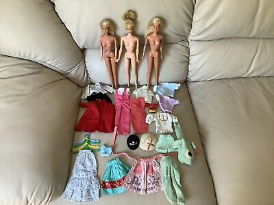 $ CDN57.15 • Buy Vintage Ash Blonde Francie Rooted Eyelashes Malibu Barbie Dolls & Clothes Lot