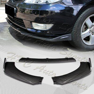 $45.99 • Buy Universal Carbon Look Front Bumper Protector Body Kit Splitter Spoiler Lip 3PCS