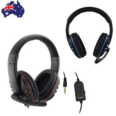 AU17.99 • Buy Durable Stereo Gaming Headset Headphone Wired With Mic For PC Xbox One PS4