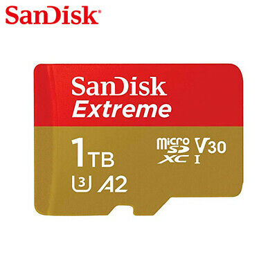 $361.56 • Buy SanDisk Extreme 1TB A2 MicroSDXC Card C10 U3 V30 160MBs For Action Camera