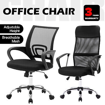 AU95.90 • Buy Gaming Office Chair Executive Computer Chairs Racer Seat High/Mid Mesh Back