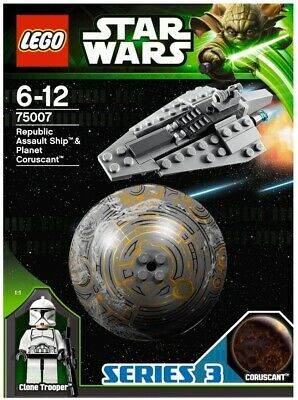 Lego 75007 Star Wars Republic Assault Ship Planet Coruscant Instructions Only X1 • 20£