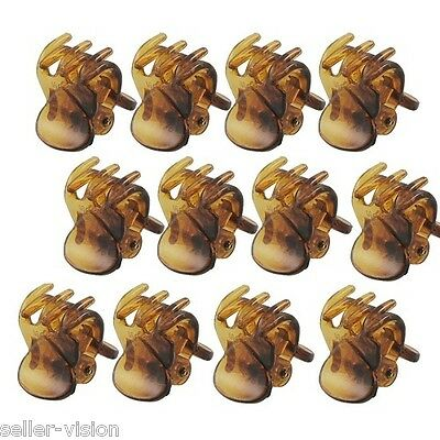 £2.99 • Buy 12 X Mini Plastic Hair Claw Clamps Bulldog Clips Grips Style Fashion Accessory