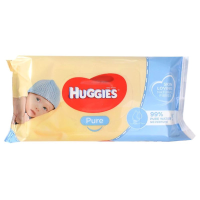 AU9.30 • Buy Huggies Pure Baby Wipes PK56 Unscented
