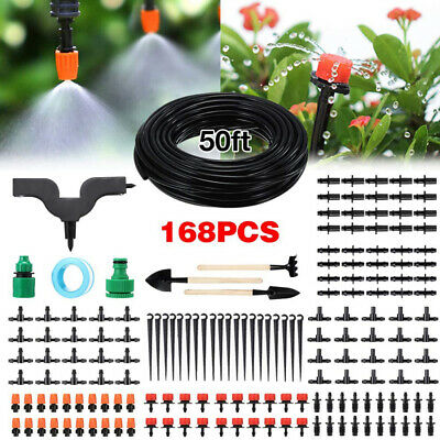 50ft Automatic Drip Irrigation System Kit Plant Timer Self Watering Garden Hose • 15.99£