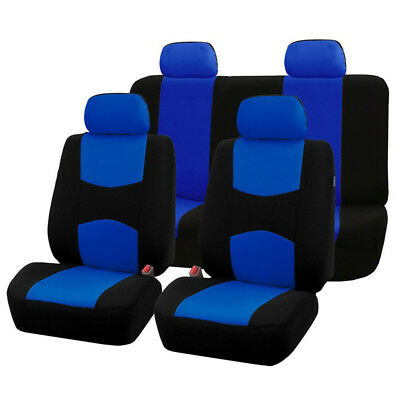 $ CDN41.64 • Buy Universal Black/Blue Full Set Auto Seat Covers Fit For Standard 5-Seats Car SUV