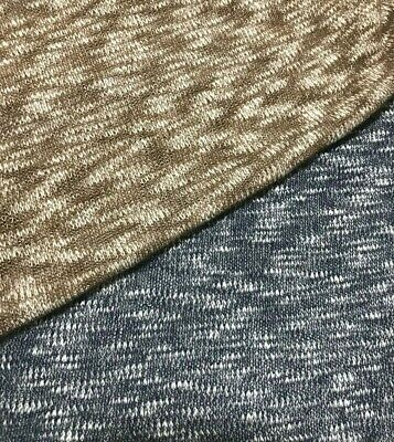 Melange Knit Jersey Fabric - Sold By The Metre • 4.49£