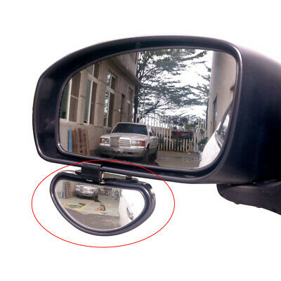 1x Adjustable Car Side Blindspot Blind Wide Angle View Mirror Accessories Black • 6.13£
