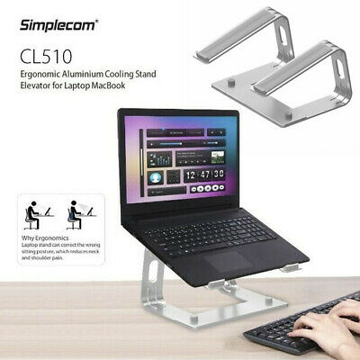 AU31.99 • Buy Ergonomic Aluminium Cooling Stand Elevator For Laptop MacBook