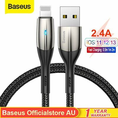AU7.59 • Buy Baseus Fast Charging Lighting Cable Charger Cord For IPad IPhone 13 12 Pro Max