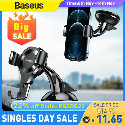 AU19.99 • Buy Baseus 360° Car Phone Holder Gravity Dashboard Suction Mount Stand For Universal