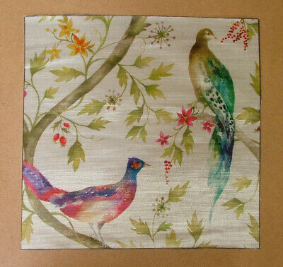 Voyage Decoration Maison Highland Birds Velvet Cushion Panel Fabric • 9.99£