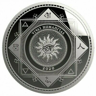 $ CDN44.79 • Buy VIVAT HUMANITAS 2020 - $5 Dollars TOKELAU 2020 1 Oz Silver Bullion Coin