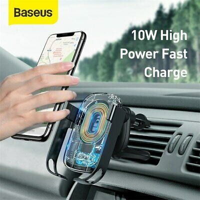 AU34.99 • Buy Baseus Qi Wireless Car Charger Mount Phone Holder Air Vent Dashboard Smart Stand