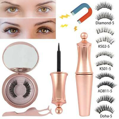 AU13.69 • Buy Portable Reusable Magnetic Eyelashes False Eye Lashes Extension Eyeliner Mirror