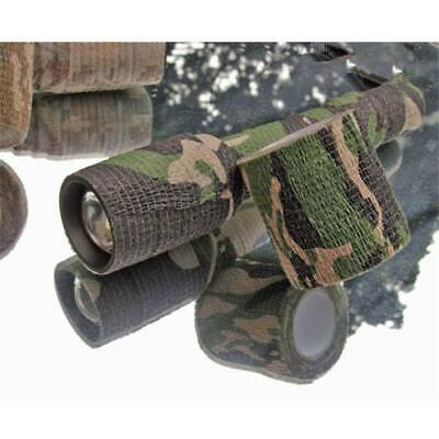 £1.34 • Buy 4.5M Camo Tape Wrap Stealth Hunting Camouflage Gun Sniper Wrap Woodland UK