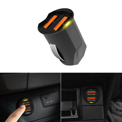 Universal 2.1A Dual USB Car Phone GPS Charger Adapter 2-Port 12 24V Accessories • 6.14£