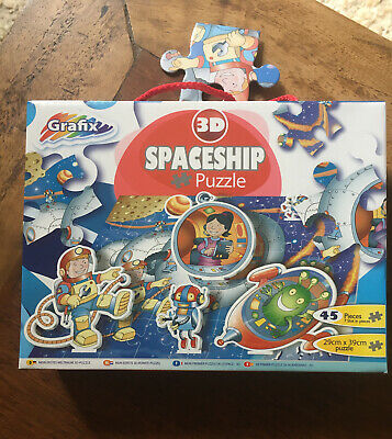 Grafix My First 3D Spaceship Jigsaw Puzzle 45 Pieces 30cm X 40cm  New In Box • 3.70£